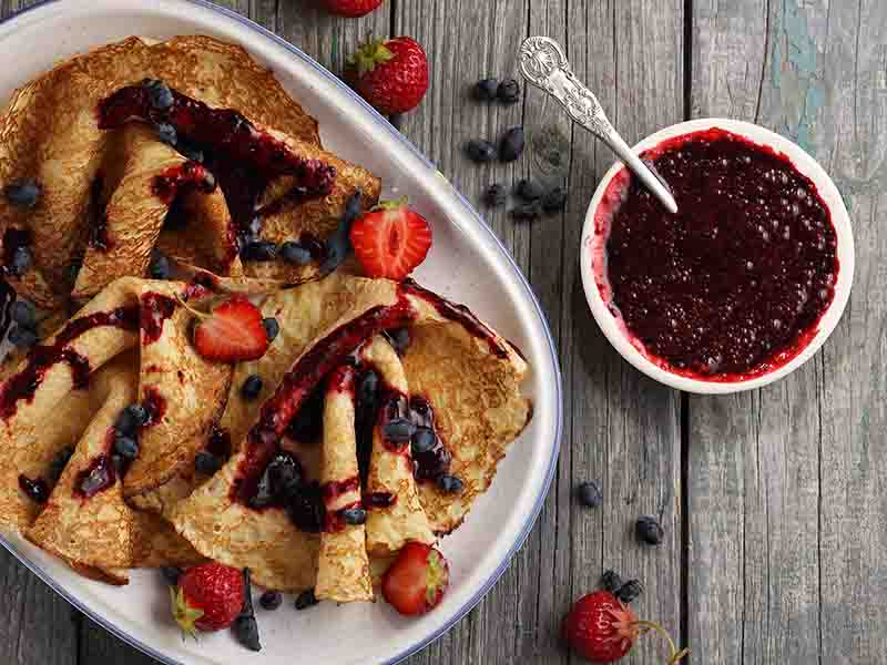 Jam Pancakes For Kids