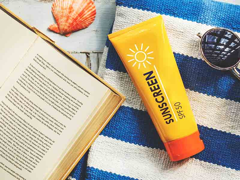 Sunscreen For Skin Protection Round Eyes