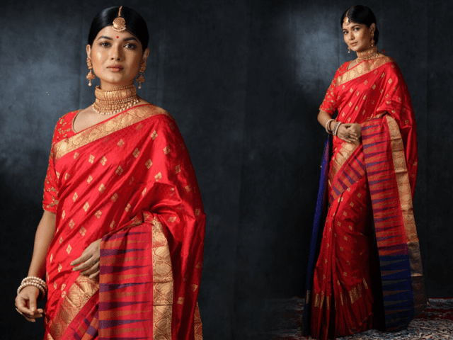 Traditional Temple Silk Saree Jewellery