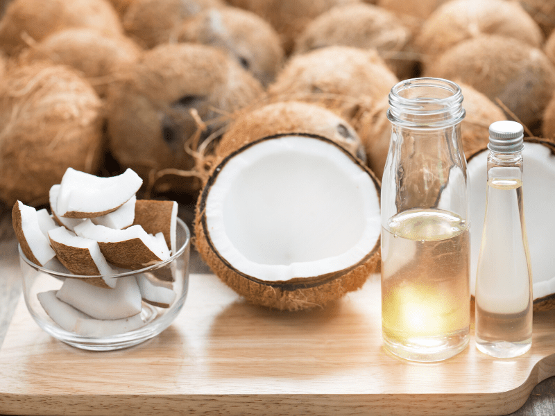 Rose Water And Coconut Oil As A Moisturizer