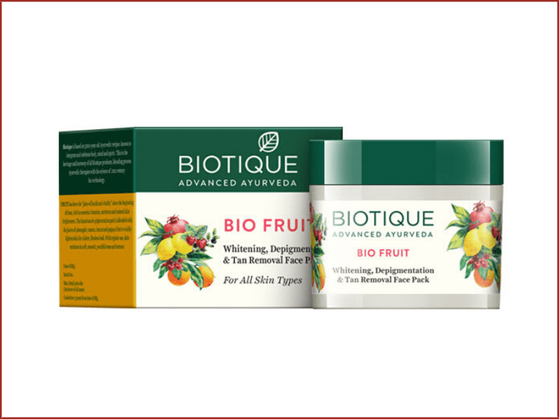Biotique Bio Fruit Whitening, Depigmentation And Tan Removal Face Pack
