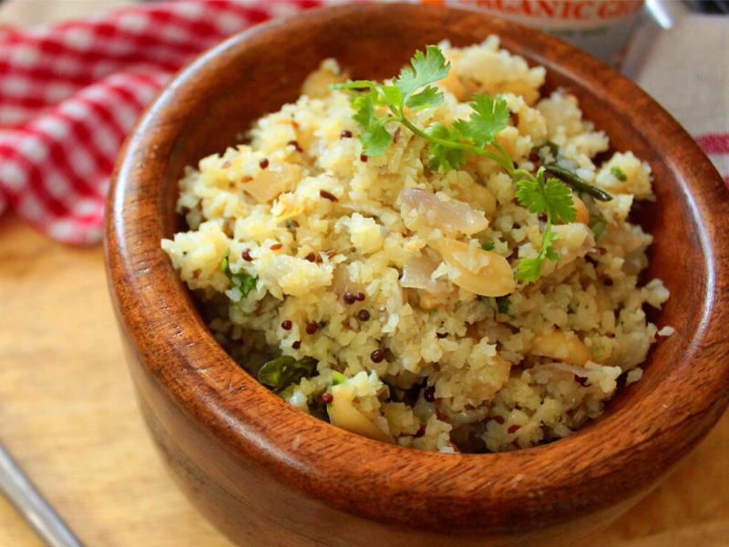 Keto Cauliflower Upma Recipe