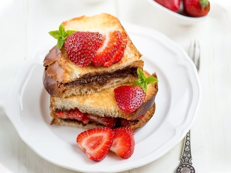 Nutella And Strawberry French Toast Recipe
