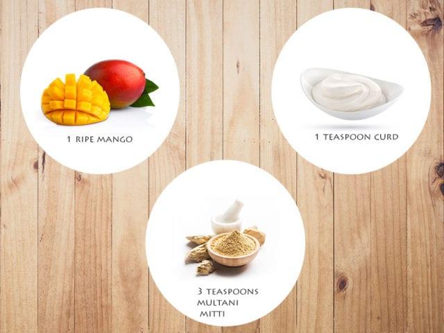Mango nd Multani Mitti Face Pack For Dry Skin