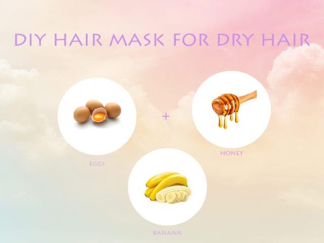 Egg Banana And Honey Hair Mask For Dry Hair
