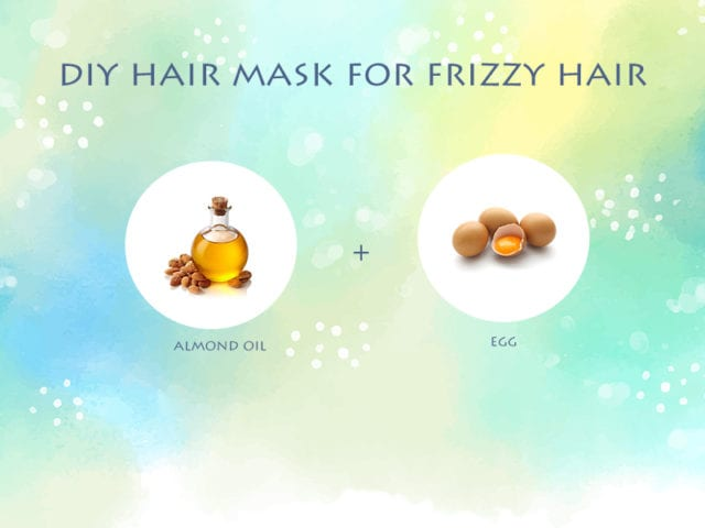 Almond Oil And Egg Hair Mask For Frizzy Hair