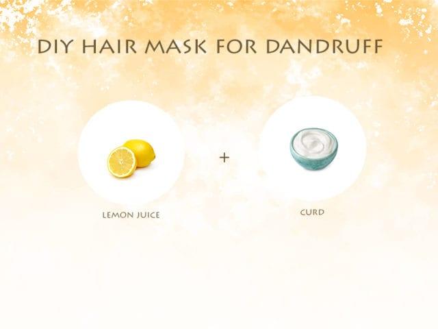 Lemon And Curd Hair Mask For Dandruff