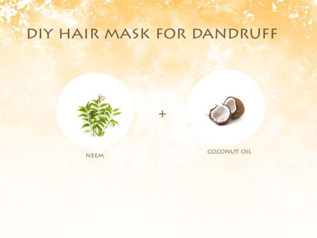 Neem And Coconut Oil Hair Mask For Dandruff