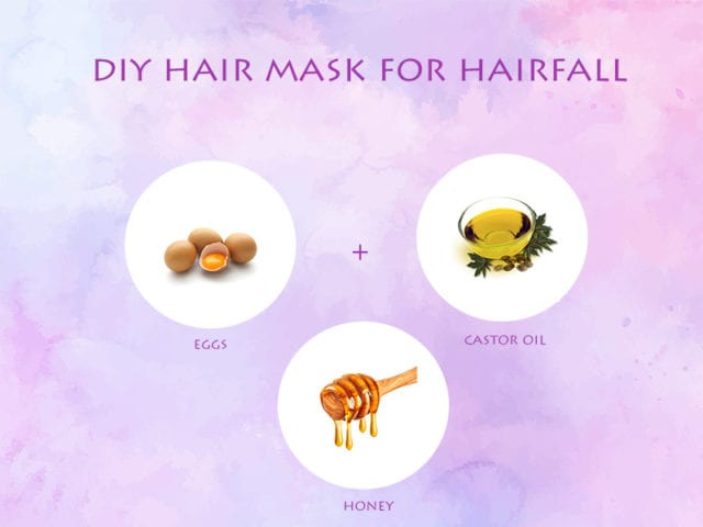 Egg, Castor Oil And Honey Hair Mask For Hair Fall