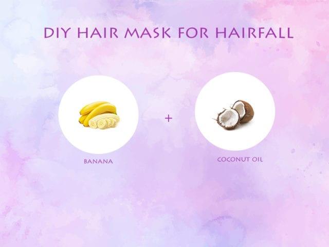Banana And Coconut Oil Hair Mask For Hair Fall