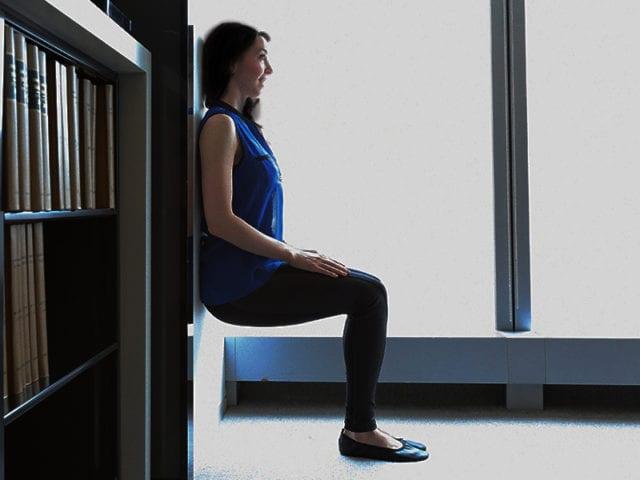 Wall Squat For Knee Strengthening