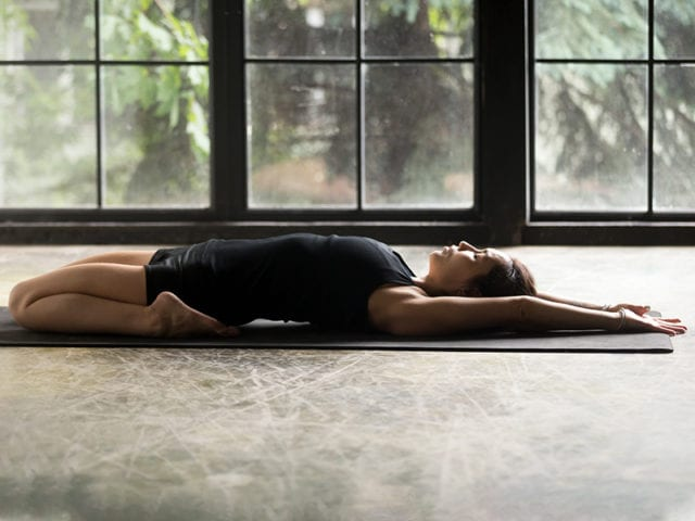 Supta Virasana To Regulate Periods